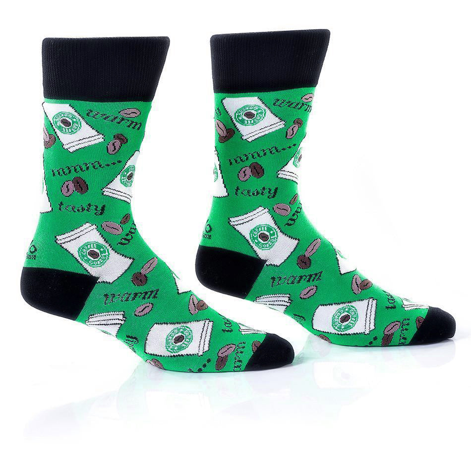 Coffee Break: Men's Crew Socks - Yo Sox Canada