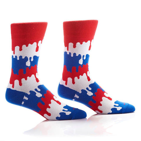 Drip Drop: Men's Crew Socks - Yo Sox Canada