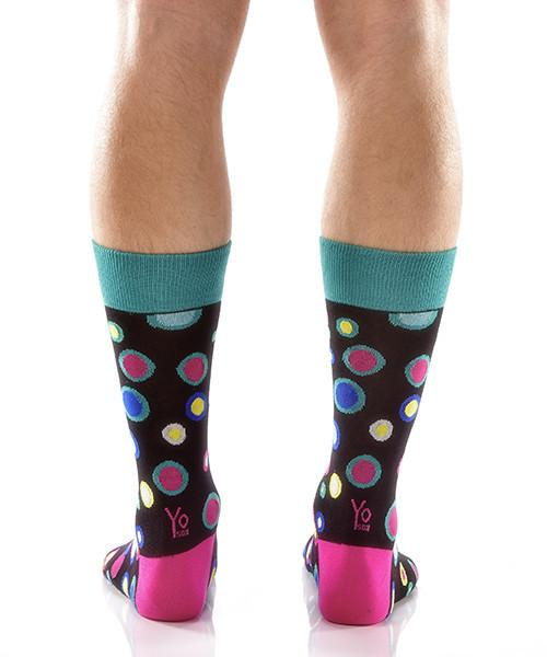 Dancing Dots: Men's Crew Socks - Yo Sox Canada