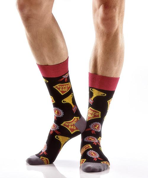 Father's Best Men's Crew Socks , Socks - Yo Sox, Canada Yo Sox  - 3