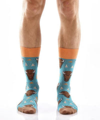 Wild Warrior Men's Crew Socks Model Image Front | Yo Sox Canada
