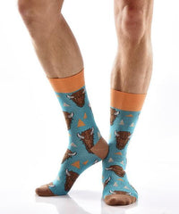 Wild Warrior Men's Crew Socks Model Image Side | Yo Sox Canada