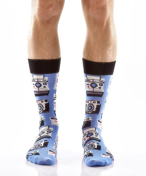 Picture Perfect Men's Crew Socks Model Image Front | Yo Sox Canada