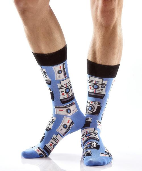 Picture Perfect Men's Crew Socks Model Image Side | Yo Sox Canada