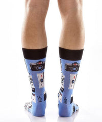 Picture Perfect Men's Crew Socks Model Image Back | Yo Sox Canada