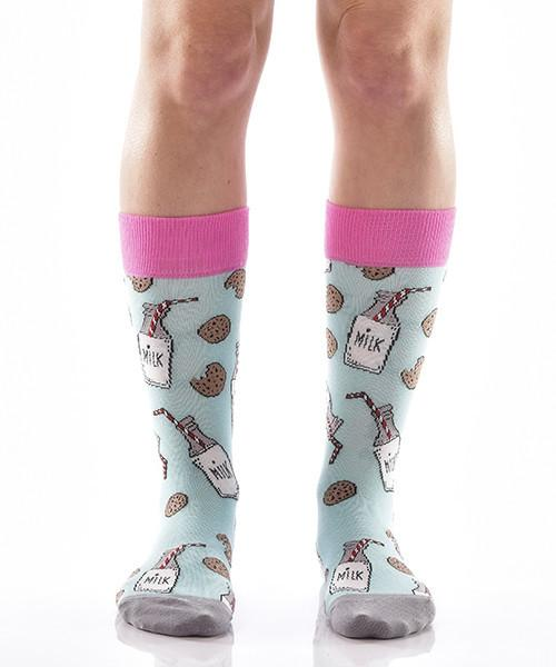 Mike and Cookies for Her Women's Crew Socks Model Image Front | Yo Sox Canada