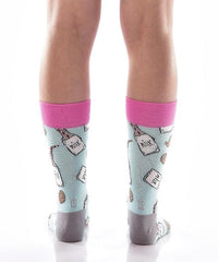 Mike and Cookies for Her Women's Crew Socks Model Image Back | Yo Sox Canada