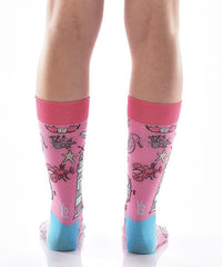 Down by the Bay Women's Crew Socks Model Image Back | Yo Sox Canada