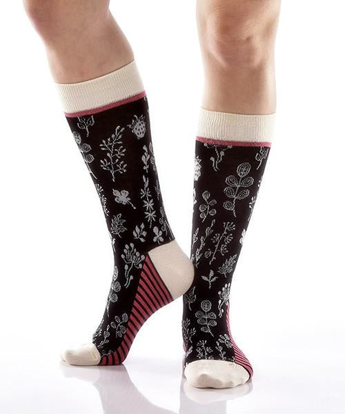 Lush Women's Crew Socks Model Image Side | Yo Sox Canada