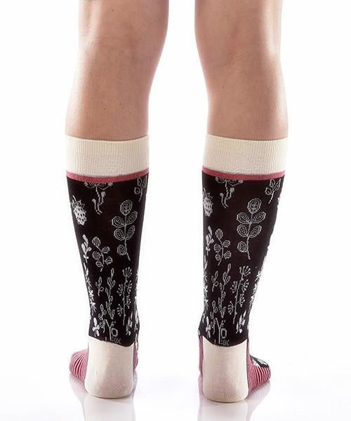 Lush Women's Crew Socks Model Image Back | Yo Sox Canada