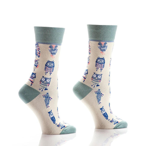You're a Hoot: Women's Crew Socks