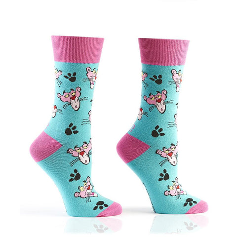Pink Pals: Women's Crew Socks | Pink Panther Collection