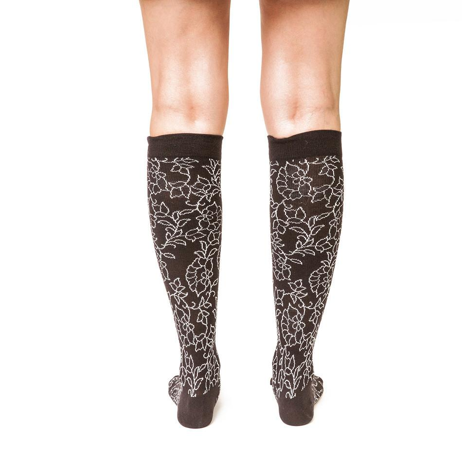 Floral Illustration: Women's Knee-High Compression Socks - Yo Sox Canada