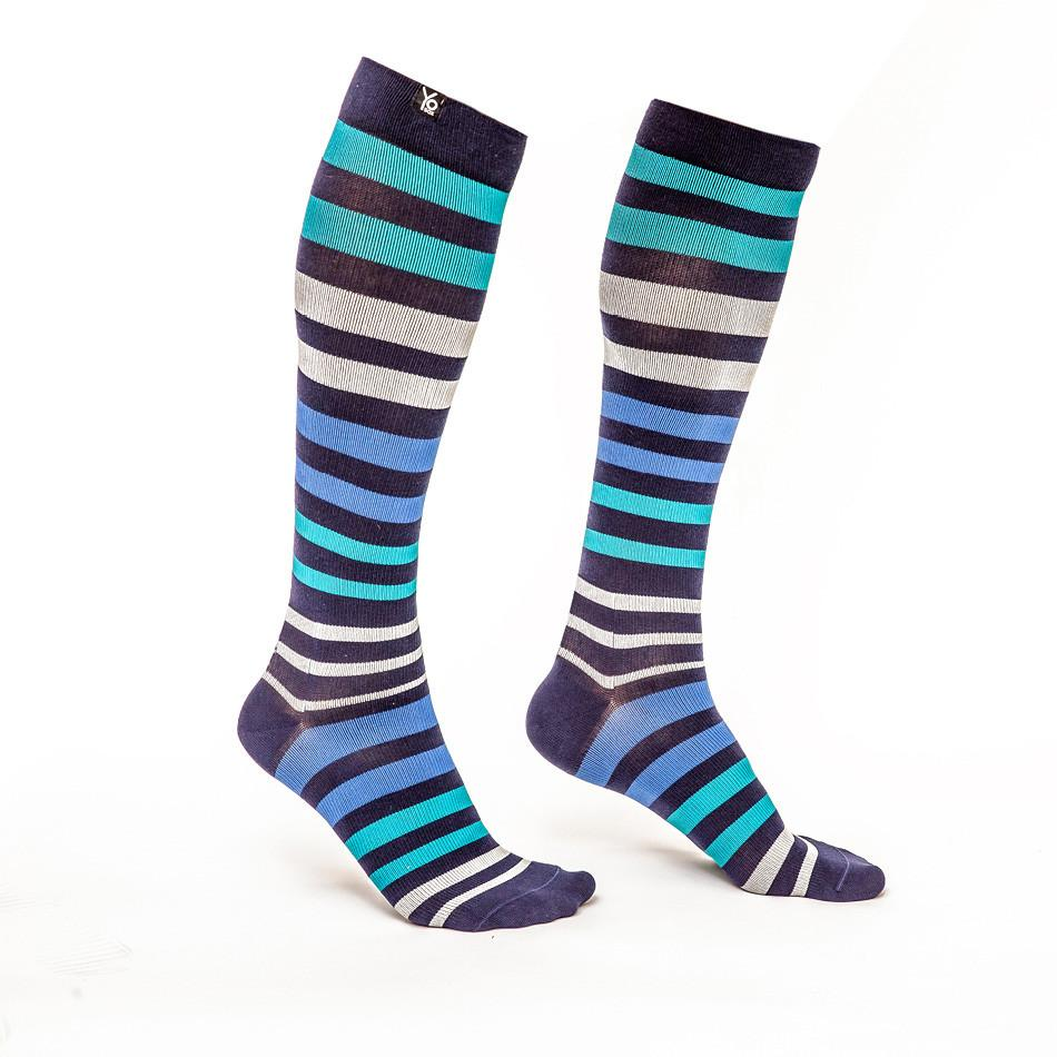 Stripe Up: Men's Knee-High Compression Socks - Yo Sox Canada