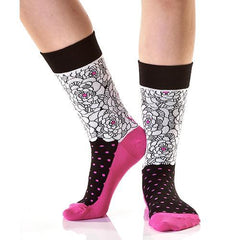 Roses & Thorns: Women's Crew Socks - Yo Sox Canada