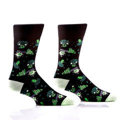 Bad-Ass Broccoli: Men's Crew Socks - Yo Sox Canada