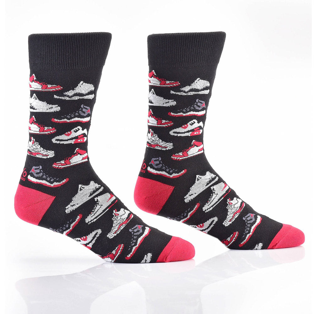Shootin' B-Ball: Men's Crew Socks - Yo Sox Canada