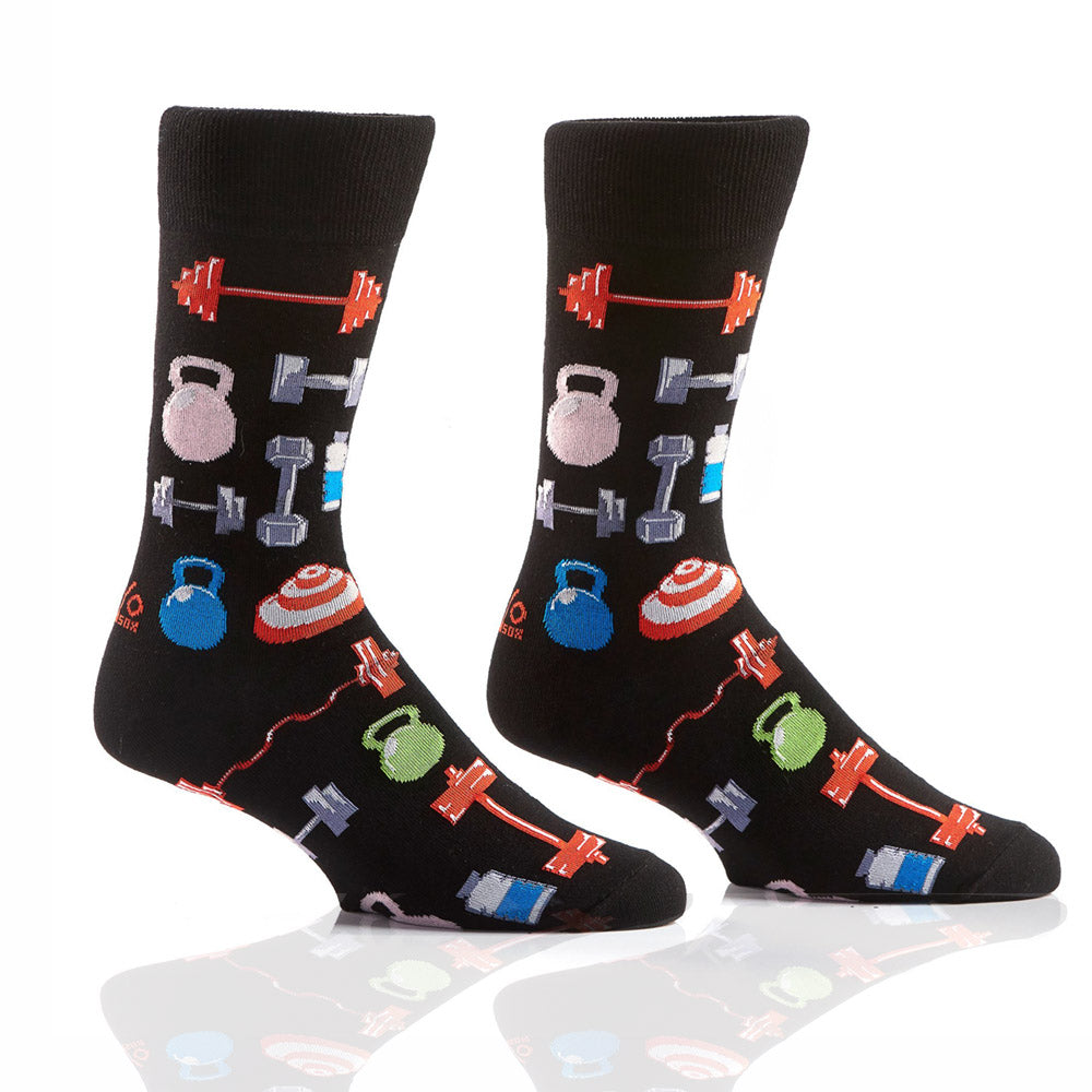 Hit The Gym: Men's Crew Socks - Yo Sox Canada