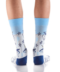 Stealthy Sharks: Men's Crew Socks