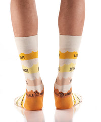 Ale in a Days Work: Men's Crew Socks - Yo Sox Canada