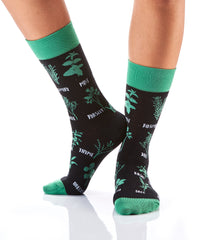 No Big Dill: Women's Crew Socks - Yo Sox Canada