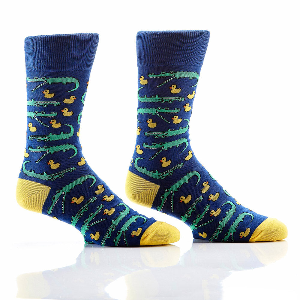 Duck, Duck, Alligator: Men's Crew Socks - Yo Sox Canada