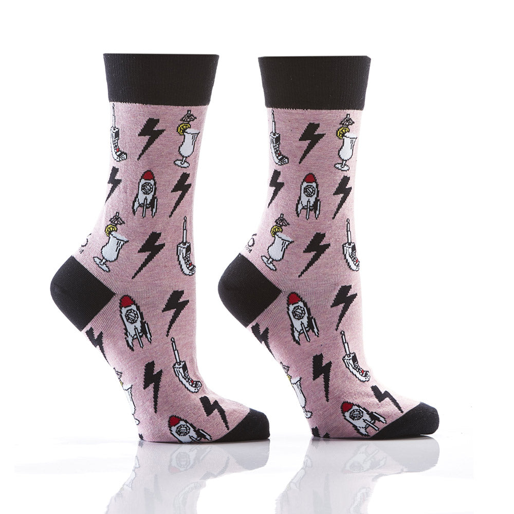 Techno Blast: Women's Crew Socks - Yo Sox Canada
