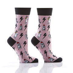Techno Blast: Women's Crew Socks