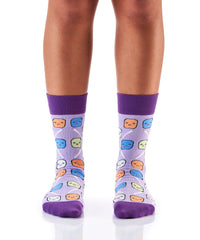 Keep it Mellow: Women's Crew Socks - Yo Sox Canada