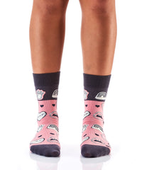 Over It: Women's Crew Socks - Yo Sox Canada