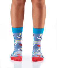 Down with Disco: Women's Crew Socks - Yo Sox Canada