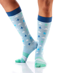 First Class: Women's Knee-High Socks - Yo Sox Canada