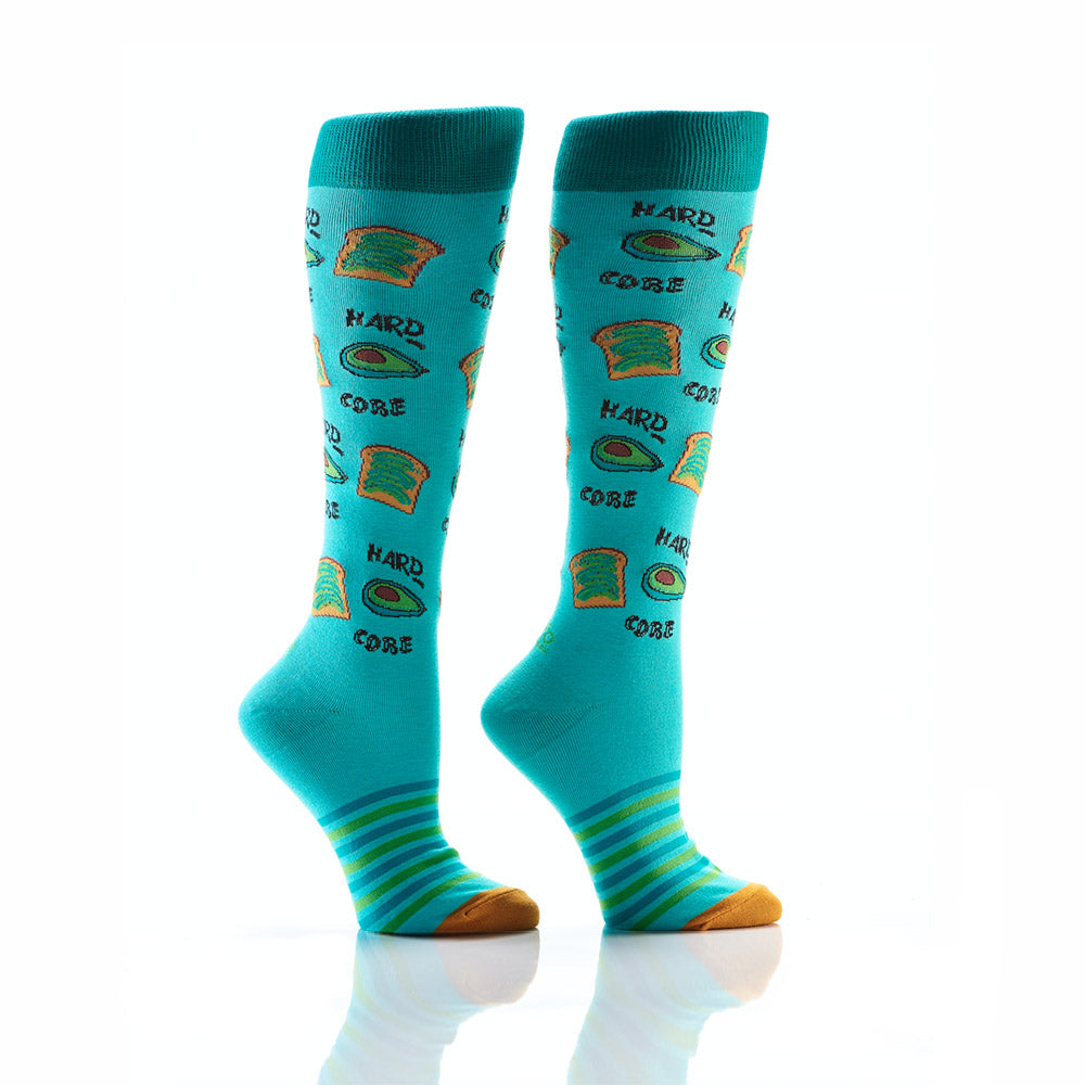 Avo-toast, Always: Women's Knee-High Socks - Yo Sox Canada