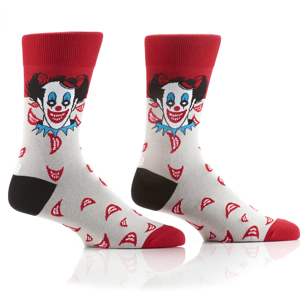 Clowning Around: Men's Crew Socks - Yo Sox Canada