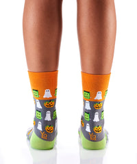 Goblins, Ghouls & Ghosts: Women's Crew Socks - Yo Sox Canada
