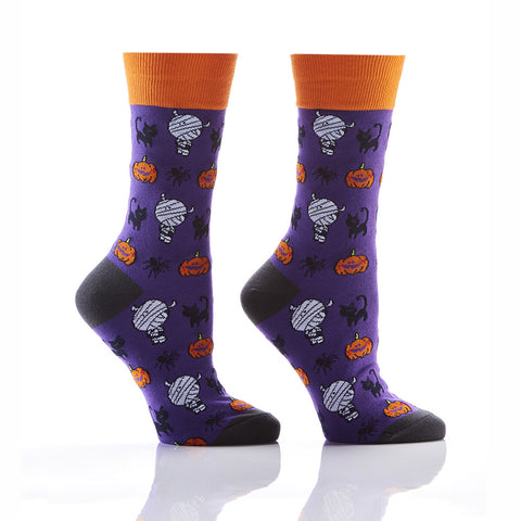Scaredy Cat: Women's Crew Socks - Yo Sox Canada