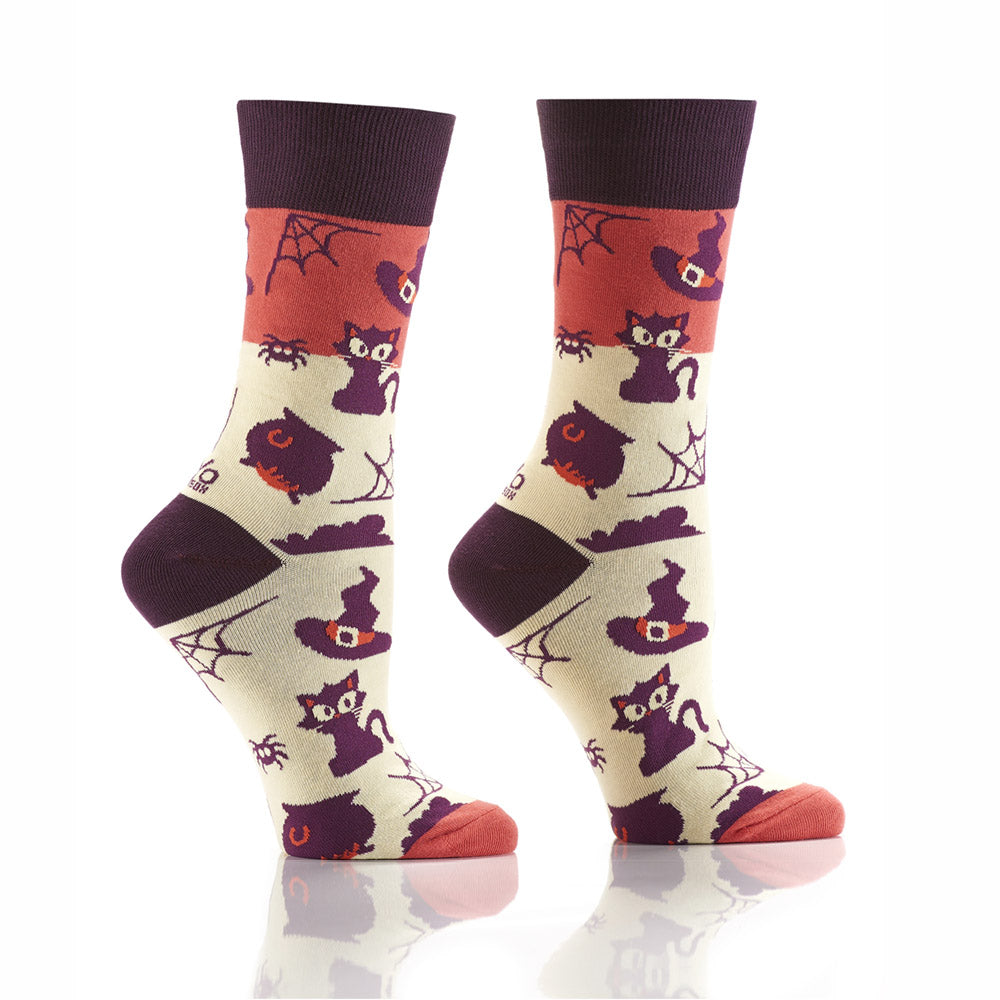 Black Magic: Women's Crew Socks - Yo Sox Canada