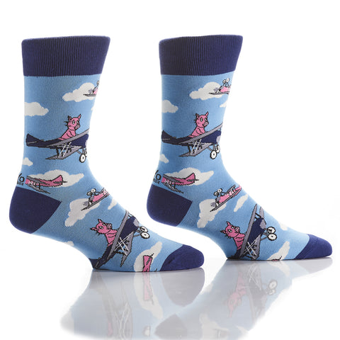 When Pigs Fly: Men's Crew Socks - Yo Sox Canada