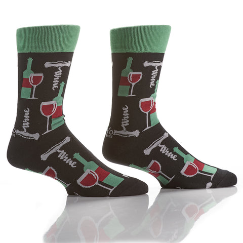 Don't Wine About It: Men's Crew Socks - Yo Sox Canada