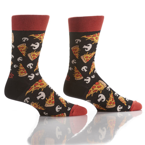 Pizza Night: Men's Crew Socks - Yo Sox Canada