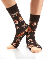 Don't Be Crabby: Men's Crew Socks - Yo Sox Canada