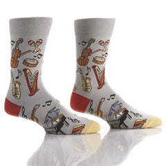 With The Band: Men's Crew Socks - Yo Sox Canada
