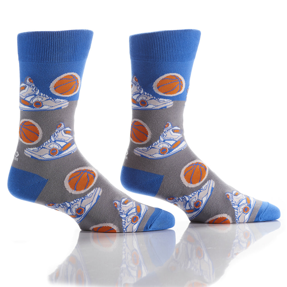 Shoot Some Hoops: Men's Crew Socks - Yo Sox Canada