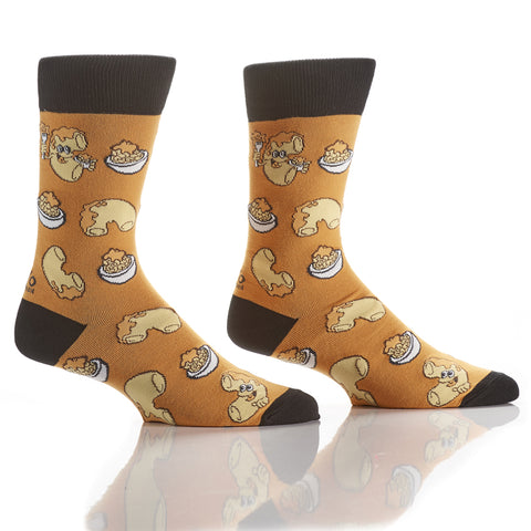 Feelin' Cheesy: Men's Crew Socks - Yo Sox Canada