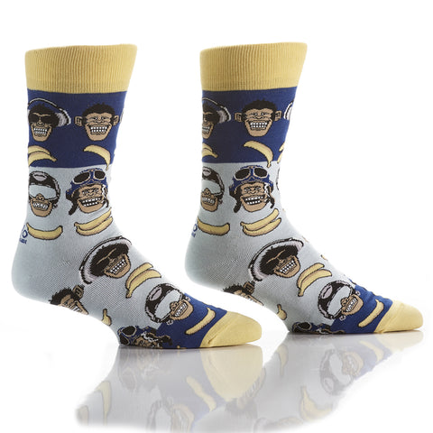 Gone Banana's: Men's Crew Socks - Yo Sox Canada