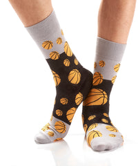 Bank Shot: Men's Crew Socks - Yo Sox Canada