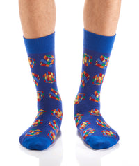 Solve the Cube: Men's Crew Socks - Yo Sox Canada