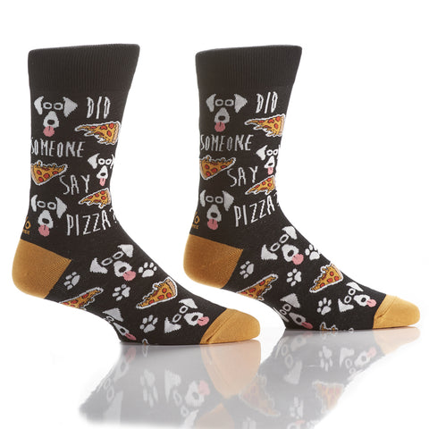 Pizza Pooch: Men's Crew Socks - Yo Sox Canada