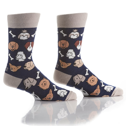 Bad to the Bone: Men's Crew Socks - Yo Sox Canada