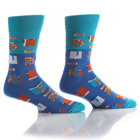 Bookworm: Men's Crew Socks - Yo Sox Canada